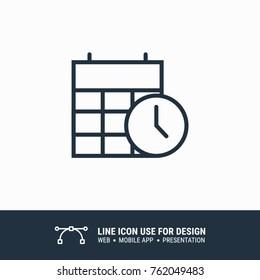 Icon time calendar graphic design single icon vector illustration