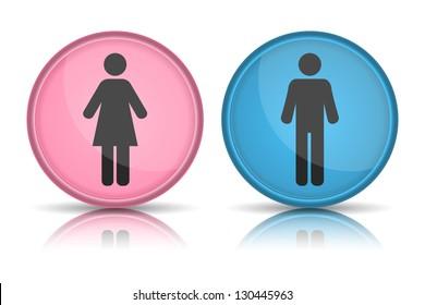 icon toilet, Man & Woman, vector illustration