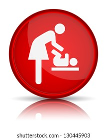 icon toilet, symbol for women and baby, baby changing, vector
