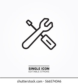 Icon tool configuration settings single icon simple graphic designs