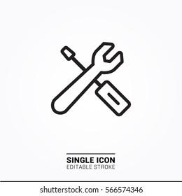Icon tool configuration settings single icon simple graphic designs