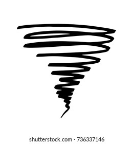 Icon tornadoes in the linear flat style. Vector illustration isolate on a white background. Weather sign Vector