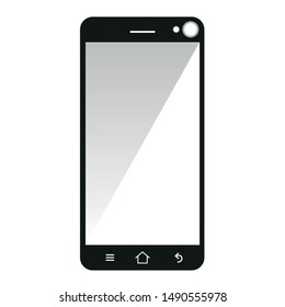 Icon Touch Screen Phone Illustration, Phone Icon Illustration, Smartphone Vector, Vector Smartphone, Digital Smartphone Icon, Gadget Banner Black White