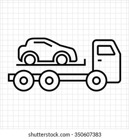 Icon of tow truck with loaded car