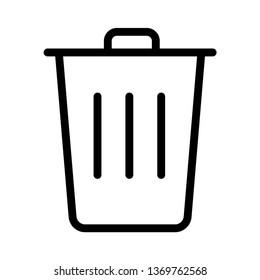 Icon Trash Garbage recycle wastebasket graphic design icon vector
