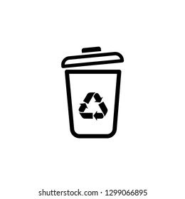 Icon trash gerbage recycle wastebasket graphic design single icon vector