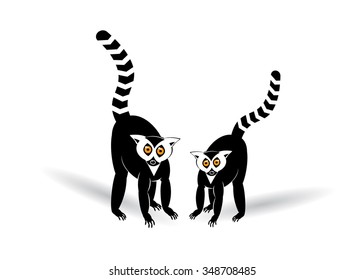 icon two lemurs.