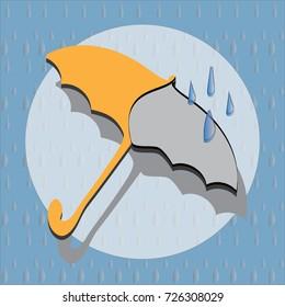 Icon of umbrella orange, Weather forecast
