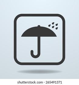 Icon of Umbrella symbol, sign