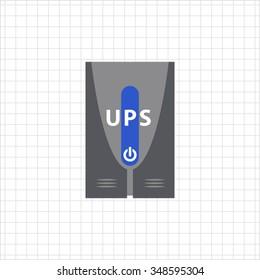 Icon of uninterruptible power supply