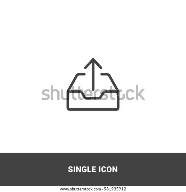 Icon upload Single Icon Graphic Design