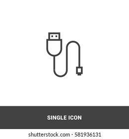 Icon usb cable  Single Icon Graphic Design