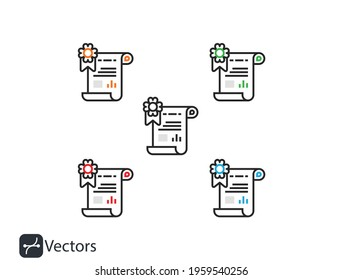 Сertificate icon. Vector certificate icon. License icon. Premium quality. Achievement badge.Vector check mark. Approved. Extended l.eps