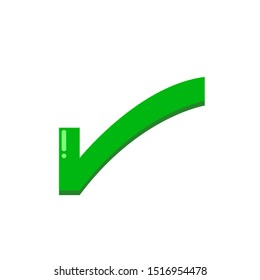 Icon Vector Checkmark  On White Background Green Fill 5