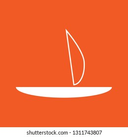 Icon vector illustration of a boat, EPS10.
