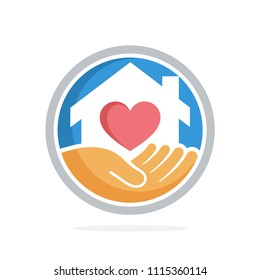 icon vector illustration with the concept of social service about home care