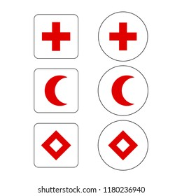 Icon vector of International Red Cross symbol
