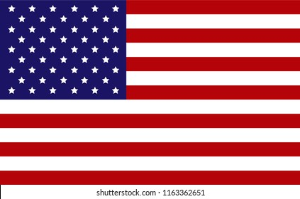 Icon vector of the United States of America flag or USA flag by Illustrator