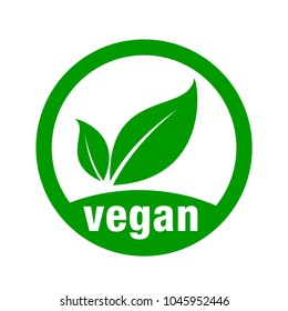icon vegan, for vegan food.
