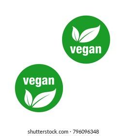 icon for vegan food, Vegan vector icon.
