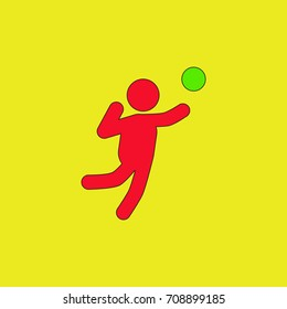 Icon of Vollyball on Color Background. Eps-10.