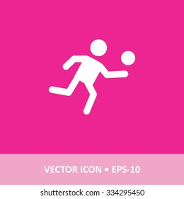 Icon of Vollyball on Magenta Color Background. Eps-10.