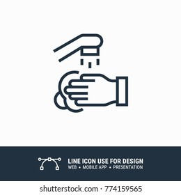 Icon washing hands graphic design single icon vector illustration