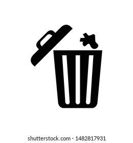 icon wastebasket for marketplace and social media