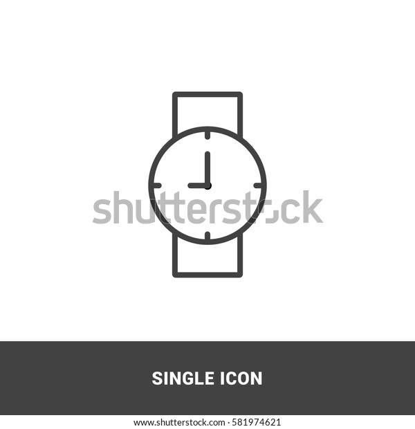 icon watch single icon graphic design