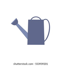 Icon watering can, vector illustration. A bright silhouette on a white background. Flat style.