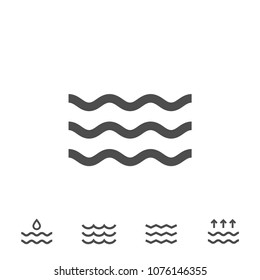 Icon wave vector line icons illustration