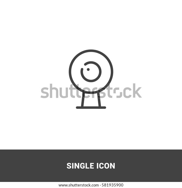 Icon webcam Single Icon Graphic Design