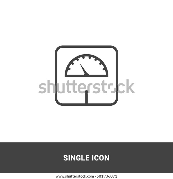 Icon weight scale Single Icon Graphic Design