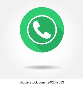 icon whatsapp. button whats app, logo whatsap vector illustration eps10