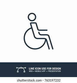 Icon Wheelchair Access free graphic design single icon vector illustration