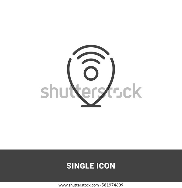 icon wireless location single icon graphic design