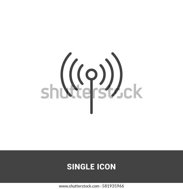 Icon wireless Single Icon Graphic Design