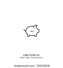 Icon withdraw savings graphic design single icon vector