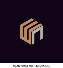 Icon WN identity group logo vector