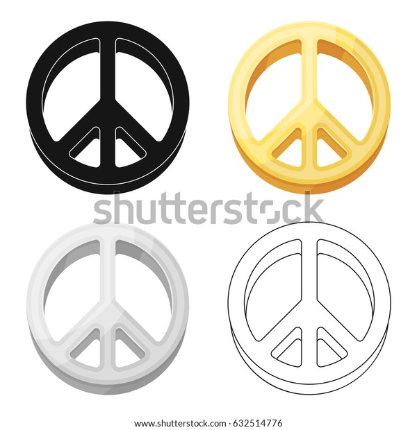 The icon of the world.Hippy single icon in cartoon style vector symbol stock illustration web.