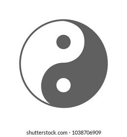 Icon Yin yang. Abstract sign isolated on white background. Vector illustration
