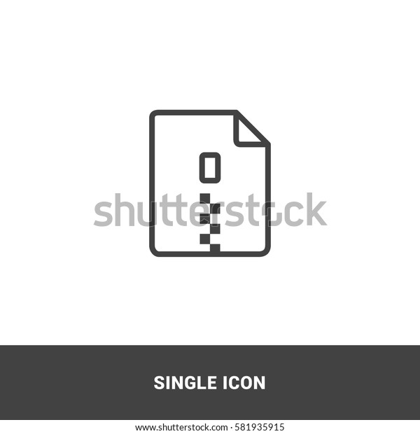 Icon zip file Single Icon Graphic Design