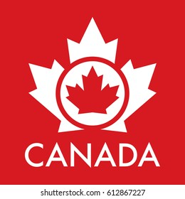 An iconic Canadian maple leaf design in vector format.