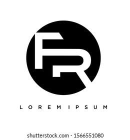 iconic FR logo vector.Initial Letter RF vector logo design template