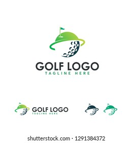 Iconic Golf Sport Logo designs vector, Golf club icons, symbols, elements and logo