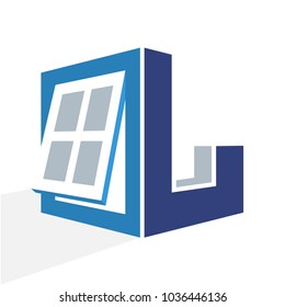 iconic logo with a combination of the window frame and the initial letter L
