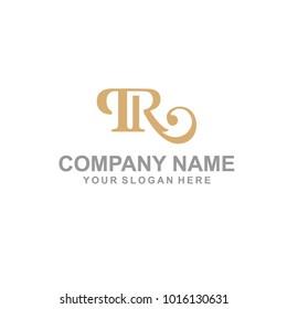 iconic TR vintage logo vector