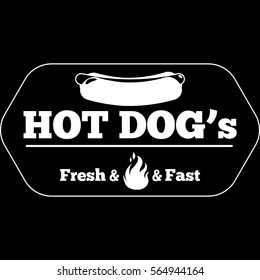 Icon/logo with Hot Dogs.