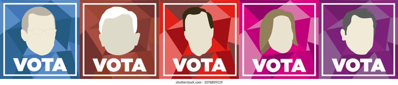 Iconos elecciones Mexico 2018, Mexico Elections 2018 spanish text