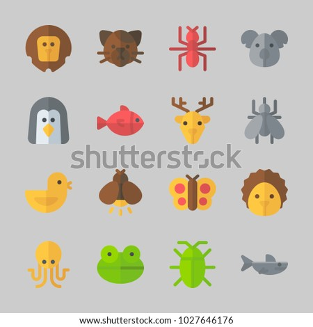 icons about animals koala deer butterfly のベクター画像素材
